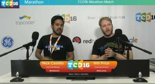 Topcoder Open 2016 - Marathon Match & Design Semifinals 1 - Part 1 #programming #design