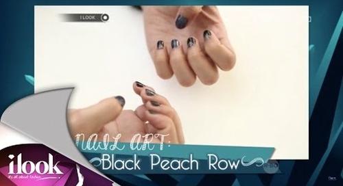 Nail Art: Black Peach Row - iLook