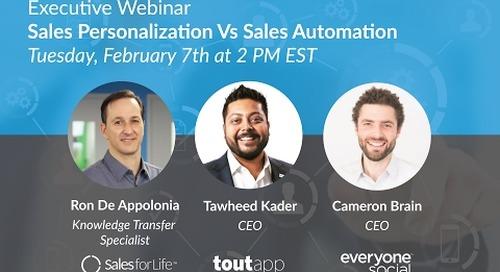 Executive Webinar: Sales Personalization Vs Sales Automation