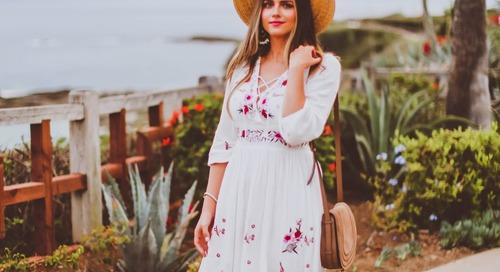 Cara Praktis Memadupadankan Floral Dress