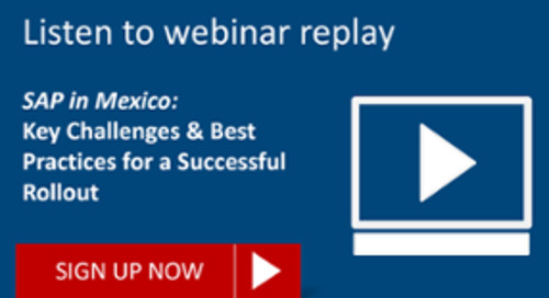 [REPLAY] SAP in Mexico: Best Practices for a Successful Rollout