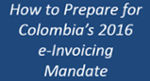 Colombia Mandates Electronic Invoicing for 2016