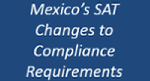 Mexico's SAT Announces Changes to Compliance Requirements - Learn more
