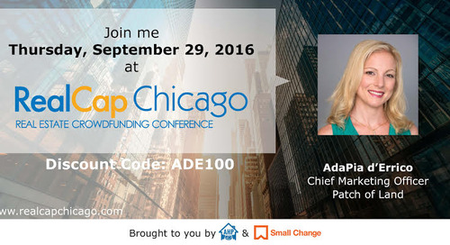 Patch of Land CMO Speaking at RealCap Chicago 2016