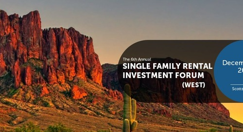 Patch of Land is a Proud Sponsor of IMN's Single Family Rental Investment Forum