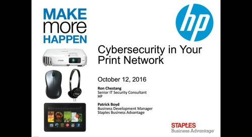 Webinar: Cybersecurity in Your Print Network