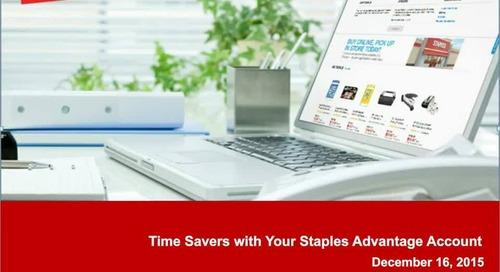 E-Comm Webinar Series - Time Savers