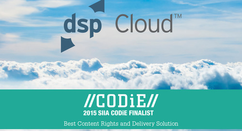 dspCloud Named a Finalist: SIIA Content CODiE Award