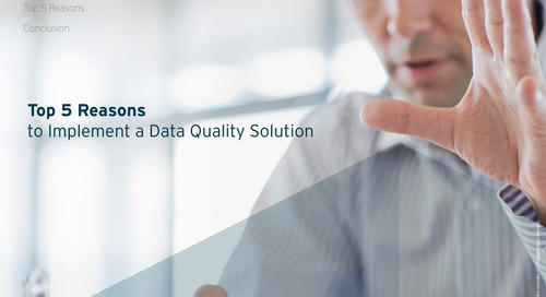 Top 5 Reasons to Implement a Data Quality Solution [eBook]