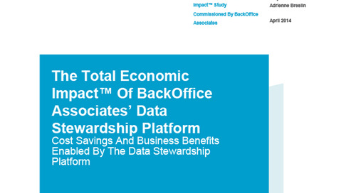 Data Stewardship Platform Total Economic Impact Study