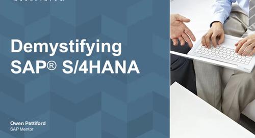 Demystifying SAP S/4HANA [Webinar]