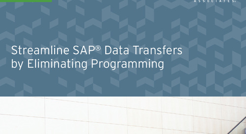 Streamline SAP Data Transfers by Eliminating Programming