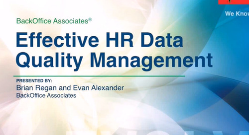 Tools and Strategies for Effective HR Data Quality Management [Webinar]
