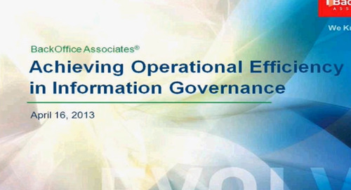 Achieving Operational Efficiency in Information Governance with Bristol-Myers Squibb [Webinar]