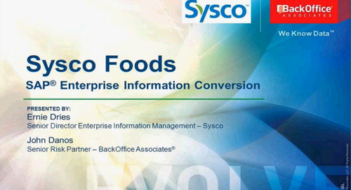 Sysco's SAP Enterprise Information Conversion [Webinar]