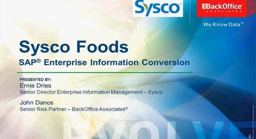 Sysco's SAP Enterprise Information Conversion [Webinar]
