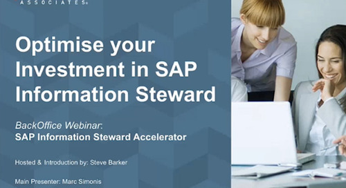 Optimise Your Investment in SAP Information Steward [Webinar]