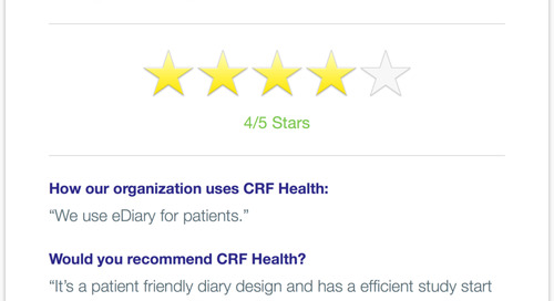 CRF Health Recommended for Patient-Friendly eDiary Design & Study Efficiencies