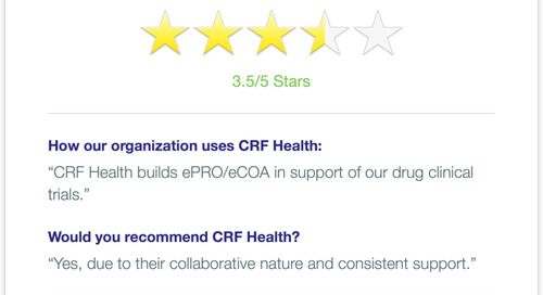 CRF Health Recommended for Collaboration and Consistent Support