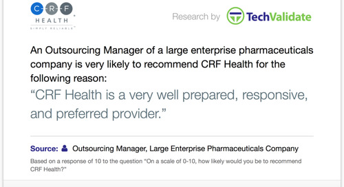 Testimonial: CRF Health Prepared, Responsive and Preferred Provider