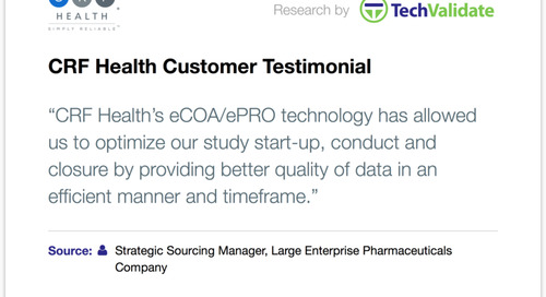 Testimonial: CRF Health Means Faster Study Start-Up, Higher Quality Data