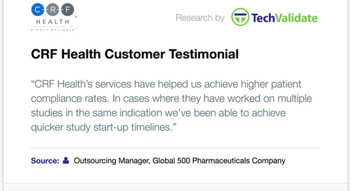 Testimonial: CRF Health Achieves Higher Compliance and Quicker Study Start