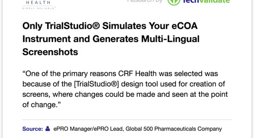 TrialStudio® Design Tool a Primary Reason for CRF Health Award