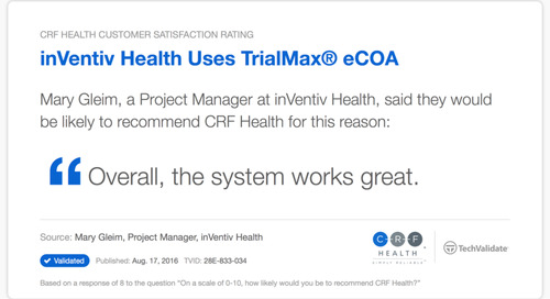Testimonial: The TrialMax® eCOA System Works Great