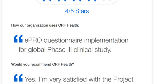 CRF Health Recommended for Project Management and Client Support