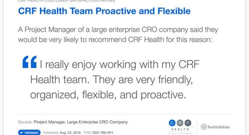 Testimonial: CRF Health Team Proactive and Flexible