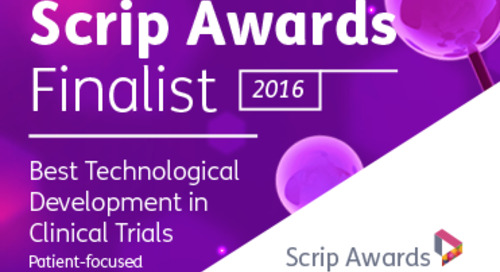 CRF Health Recognized as a Finalist in 2016 Scrip Awards