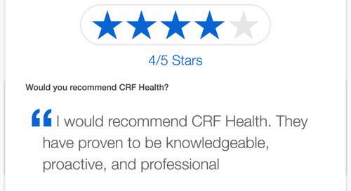 "Testimonial: ""CRF Health is Knowledgeable, Proactive, Professional"""