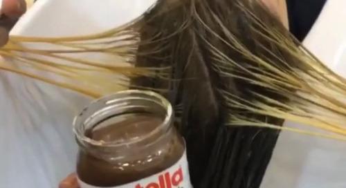 Nutella Sebagai Pewarna Rambut???