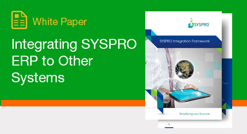 Integrating SYSPRO ERP to Other Systems