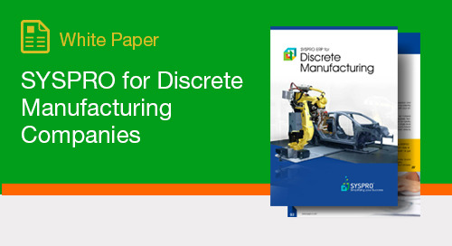 SYSPRO for Discrete Manufacturing Companies