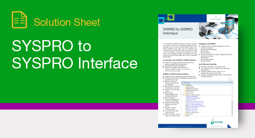 SYSPRO to SYSPRO Interface