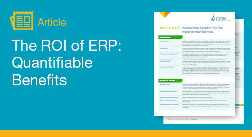 The ROI of ERP: Quantifiable Benefits