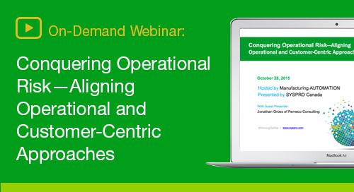SYSPRO Conquering Operational Risk On-Demand Webinar