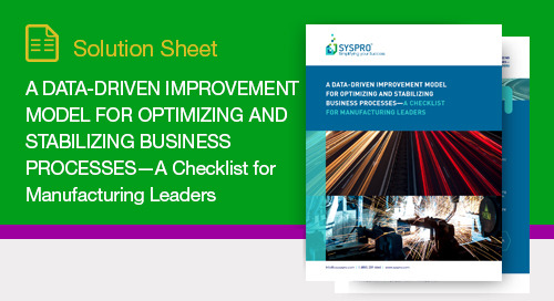 A Data-Driven Improvement Model for Optimizing Business Processes