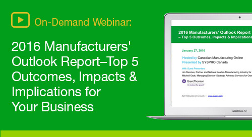 Take the guesswork out of planning for manufacturing growth in 2016 and beyond