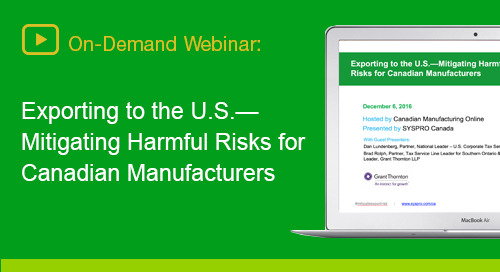 How manufacturing leaders can prepare for critical factors when entering the U.S.