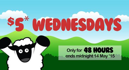 $5 Wednesday 48 hour sale