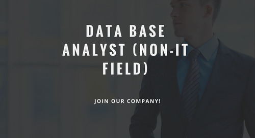 ControlPay vacancy - Data Base Analyst (non-IT field)