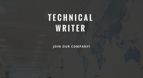 ControlPay vacancy - Technical Writer