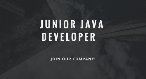 ControlPay vacancy - Junior Java Developer