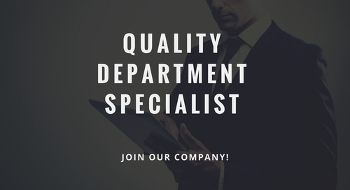 ControlPay vacancy - Quality Department Specialist