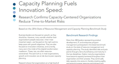 2016 Resource Management and Capacity Planning Executive Insight