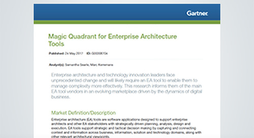 Gartner 2017 Magic Quadrant for Enterprise Architecture Tools