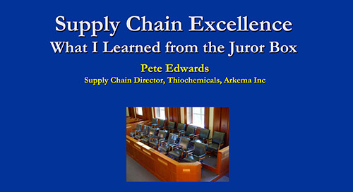 "reveal2014 NA Peter Edwards, Arkema – ""Supply Chain Lessons from the Juror's Box"""