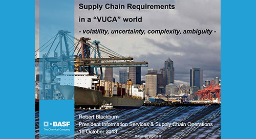 "inSIGHT 2013 EU Robert Blackburn ""Evolving Supply Chain Requirements"""